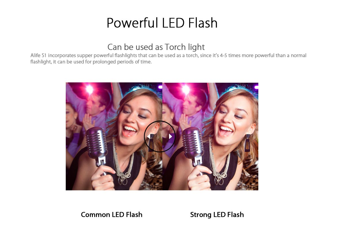 alife s1 powerful led flash